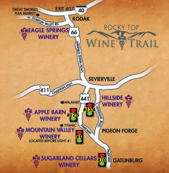 Rocky Top Wine Trail - Pigeon Forge, TN