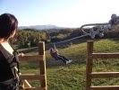 Zip through gate - ENJOY MOUNTAIN ADVENTURES AT JAYELL RANCH NEAR DOLLYWOOD