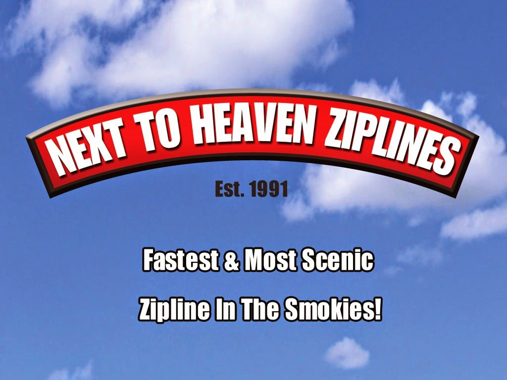 Zipline attraction near Pigeon Forge
