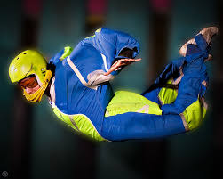 flyaway indoor skydiving Blue flyer